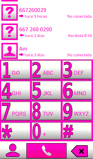 ExDialer Theme BIG White Pink