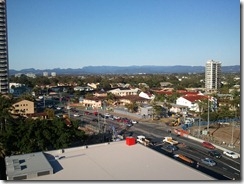 View from motel room