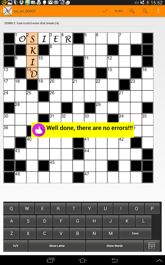 US Style Crossword Puzzles English- screenshot