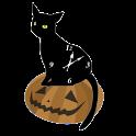 The Black Cat Analog Clock icon