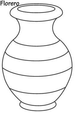 VASE WITH FLOWERS COLORING PAGES VASE