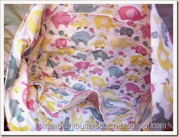 diaper bag interior