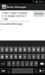 Binary Messages - screenshot thumbnail