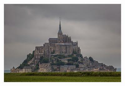 Mont Saint Michel - Blick über die Felder