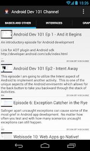 AndroidDev101 YouTube Channel - screenshot thumbnail