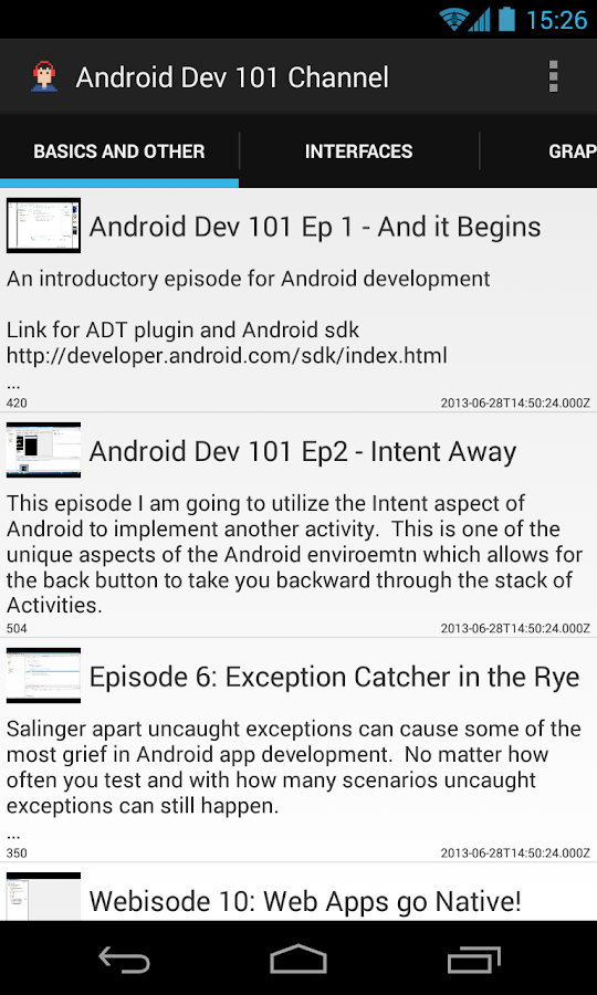 AndroidDev101 YouTube Channel - screenshot