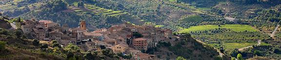 Torroja del Priorat des del camí del Pinell.Torroja del Priorat, Priorat, Tarragona