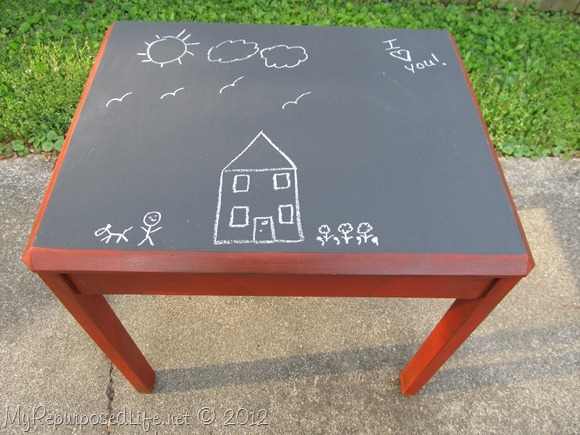 Kids Chalkboard table & chairs (13)