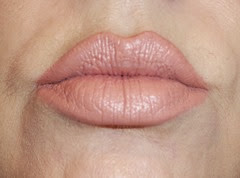 wearing essence Nude Love longlasting lipstick