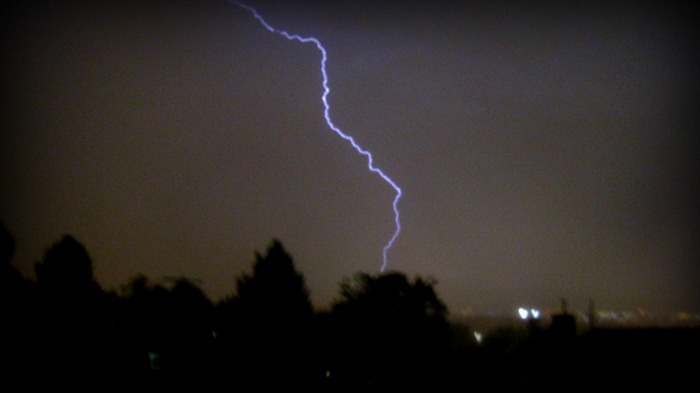 lightning bolt in Salt Lake City
