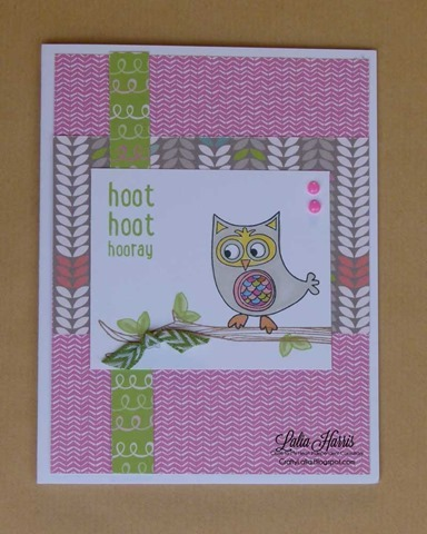 Laughing Lola and Owls CTMH stamp set by Lalia Harris
