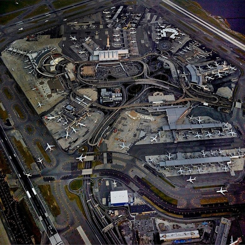 Complexities of Airports Photographed From Above