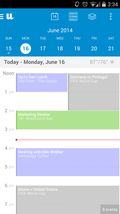UpTo - Calendar and Widget - screenshot