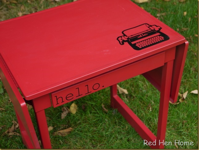 Red Hen Home Typewriter Table 5