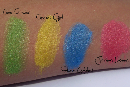 Swatches Lime Crime - Coloridos