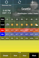 Screenshot of Weather Checker