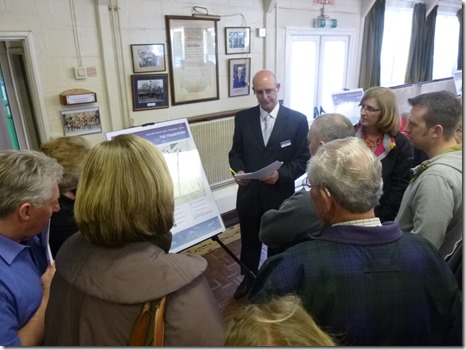 Gladman public exhibition (19-4-13) - a representative hears visitors views