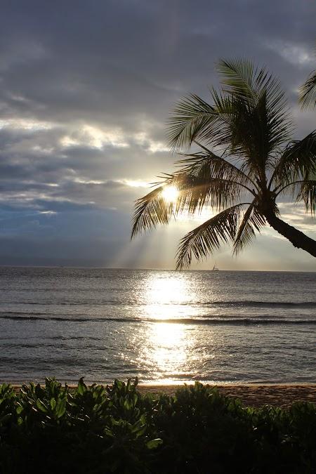 Apus de soare in Ka'anapali - Maui, Hawaii