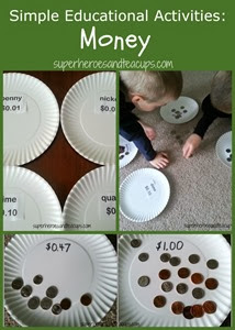 Simple-Educational-Activities-Money from Superheroes and Teacups