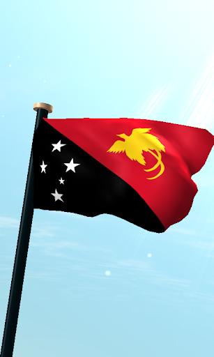 巴布亞新幾內亞旗3D免費動態桌布