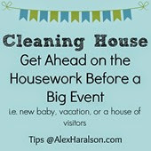 Cleaning house getting ahead on the housework