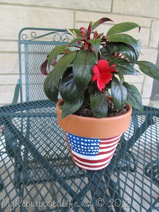 Plaid Paint flower pot (7)