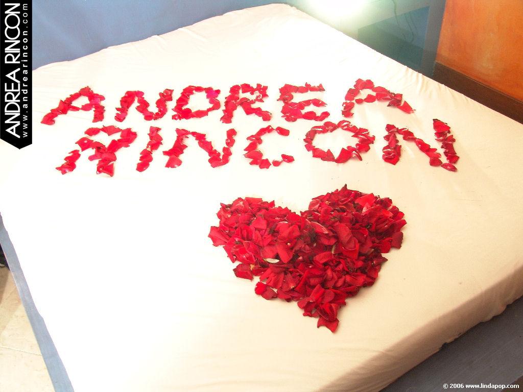 Andrea Rincon, Selena Spice Galeria 48 : Solo Para Ti, Corazon Petalos De Rosa En La Cama – AndreaRincon.com Foto 1