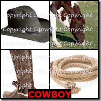 COWBOY- 4 Pics 1 Word Answers 3 Letters