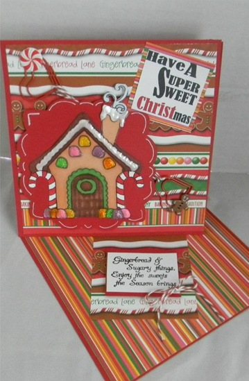 suzanne gingerbread card