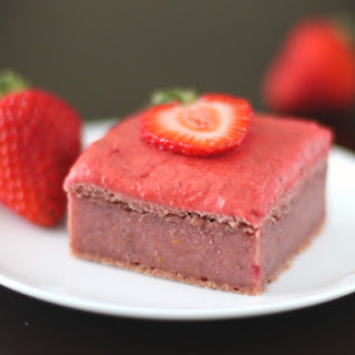 Strawberry-Beet Blondies with Strawberry Frosting