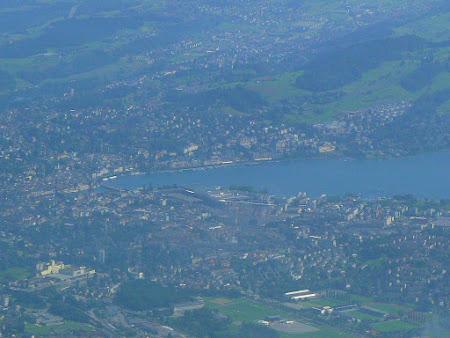 Panorama Elvetia: Lucerna vazuta de pe Pilatus