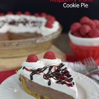 Chocolate Raspberry Truffle Cookie Pie.
