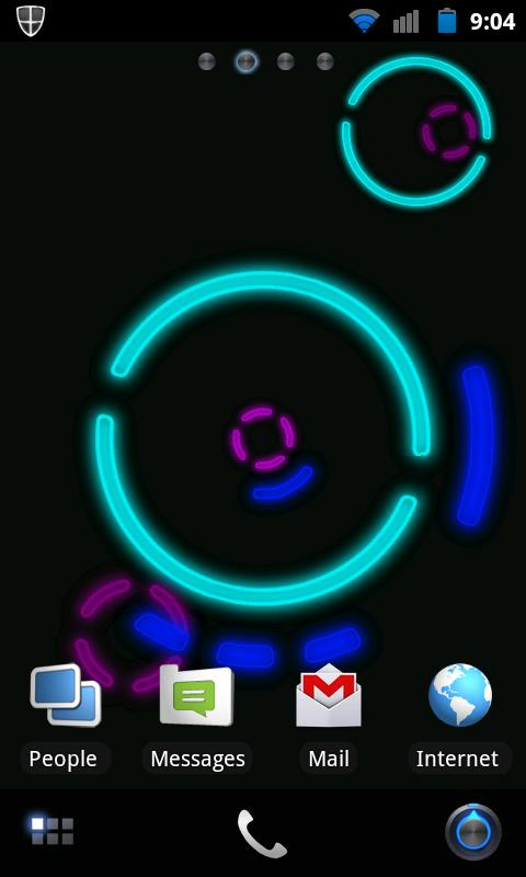 NeonGears Live Wallpaper Basic - screenshot