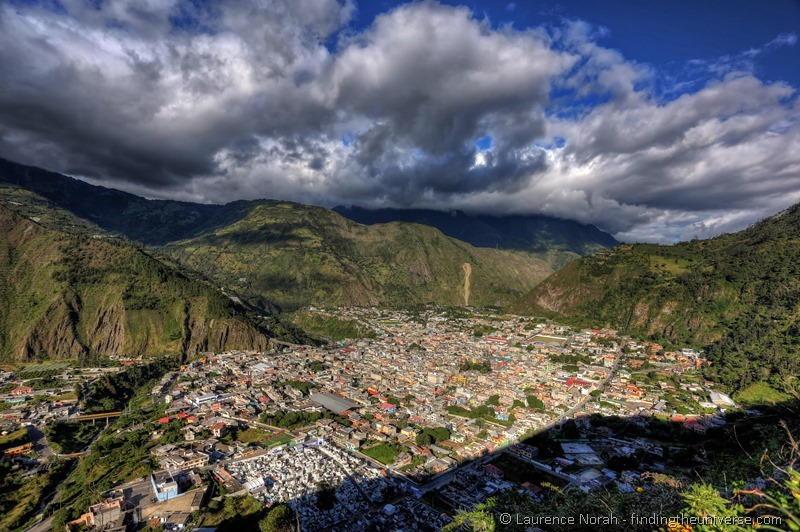 Banos from above Ecuador