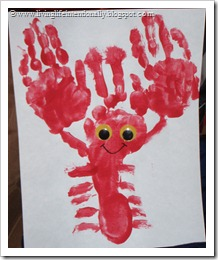 Hand & Foot Lobster Craft