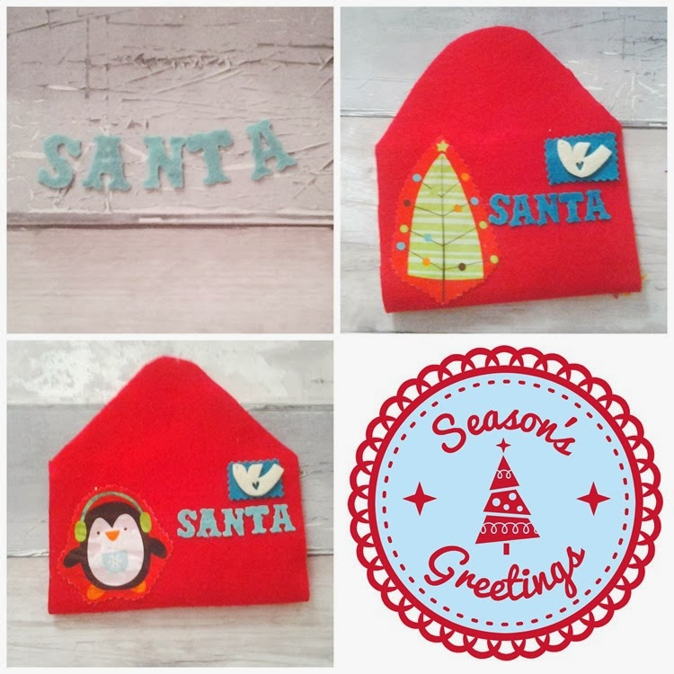 DIY felt envelope addressed to santa