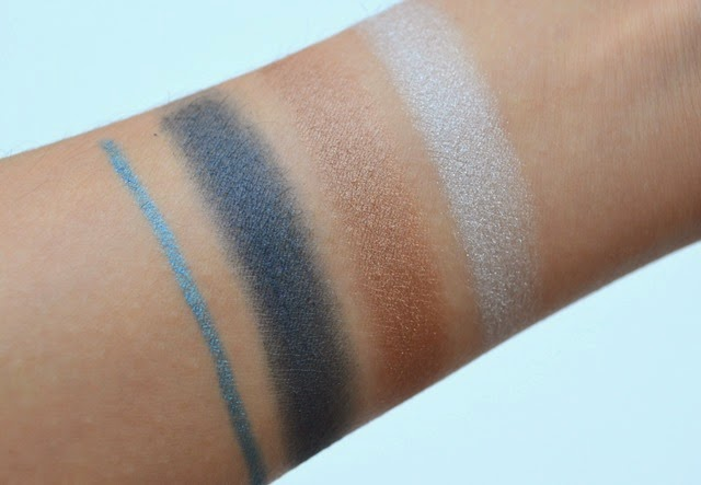 NYC New York Color Trio Eye Shadow Blues Cafe Swatches