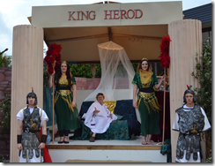 Actors being King Herod and his entourage