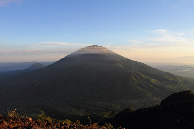 Mount Merbabu, an extinct volcano opposite Mount Merapi