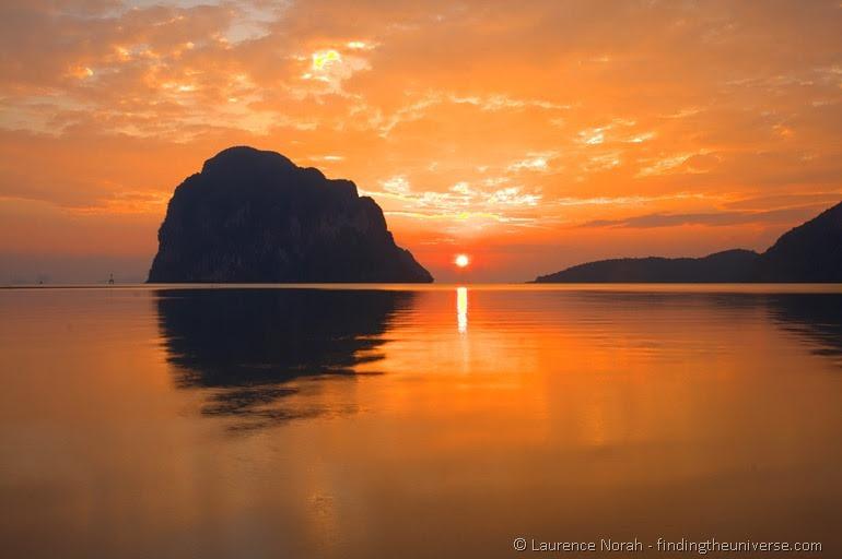 Sunset Thailand sea