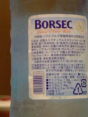Restaurant romanesc in Japonia: Borsec in Japonia