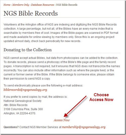 Family History Through the Alphabet – NGS Bible Records
