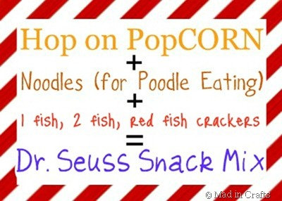 DR SEUSS SNACK MIX graphic