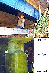 FRP wrap concrete beam