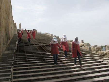 Imagini Iran: scarile de la Persepolis