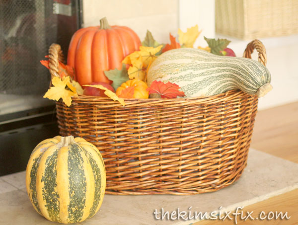 Basket of fall produce