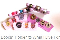 Toe separators as bobbin holders
