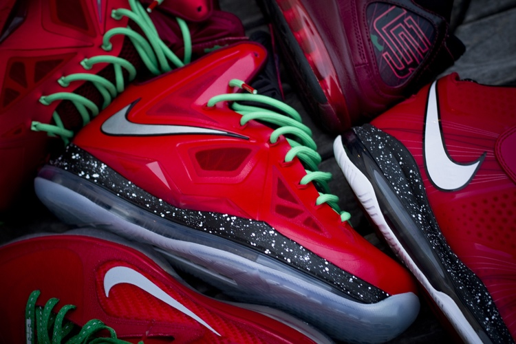 brand new df964 dfc73 ... Nike LeBron X iD Inspired by Christmas 88217s Build by gentry187 ...