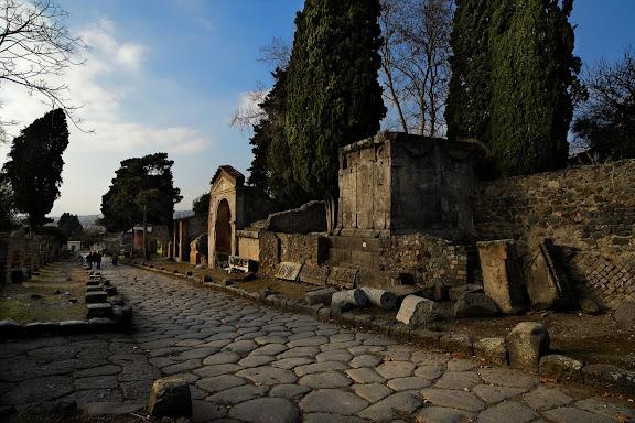 Antigua ciudad romana de Pompeya. Necropolis de la Puerta de Herculano. Pompeya, Italia
