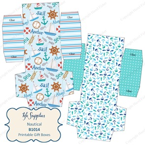 B1014 etsy 1 Nautical printable gift boxes